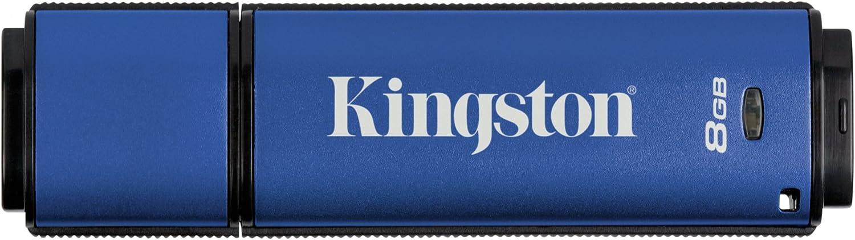 Kingston Digital 8GB Data Traveler AES Encrypted Vault Privacy 256Bit 3.0 USB Flash Drive (DTVP30/8GB)