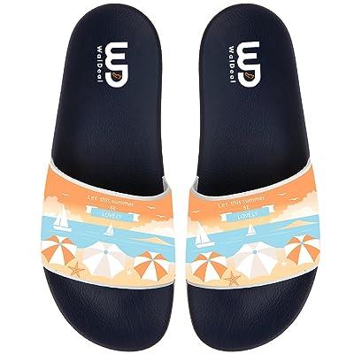 Let This Summer Be Lovely Non-slip Slide Sandals Home Shoes Beach Swim Flip Flops Indoor and Outdoor Slipper Women Men