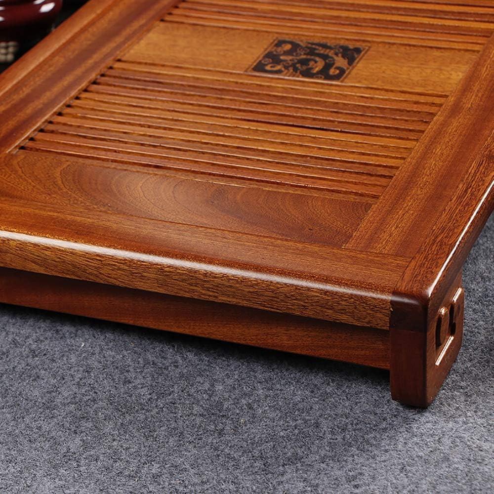Lfives Teezeremonie-Teetablett Home Office Tee Serviertablett Box aus Holz Japanisch Chinesisch Gongfu Tee-Tabelle Serviertablett Gongfu Tee-Zeremonie Farbe : Natural, Gr/ö/ße : 53x29cm