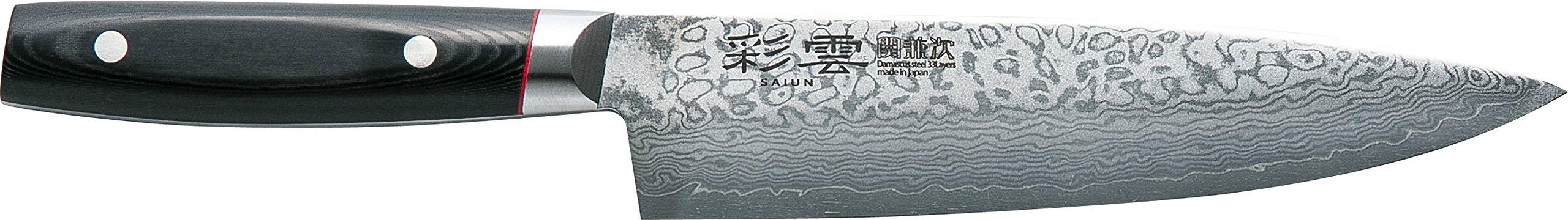 関兼次 Seki Kenji Hamono Japanese Knife ''Saiun'' Damascus Steel Stainless VG-10 Made in Japan (Beef Sword 200mm) Made in Japan