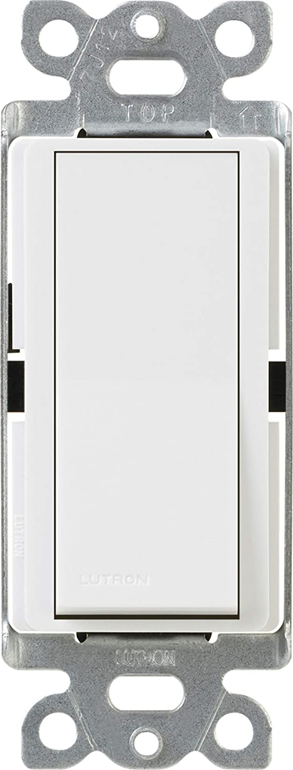 Lutron Claro On/Off Switch, 15 Amp, 3-Way, CA-3PS-WH, White