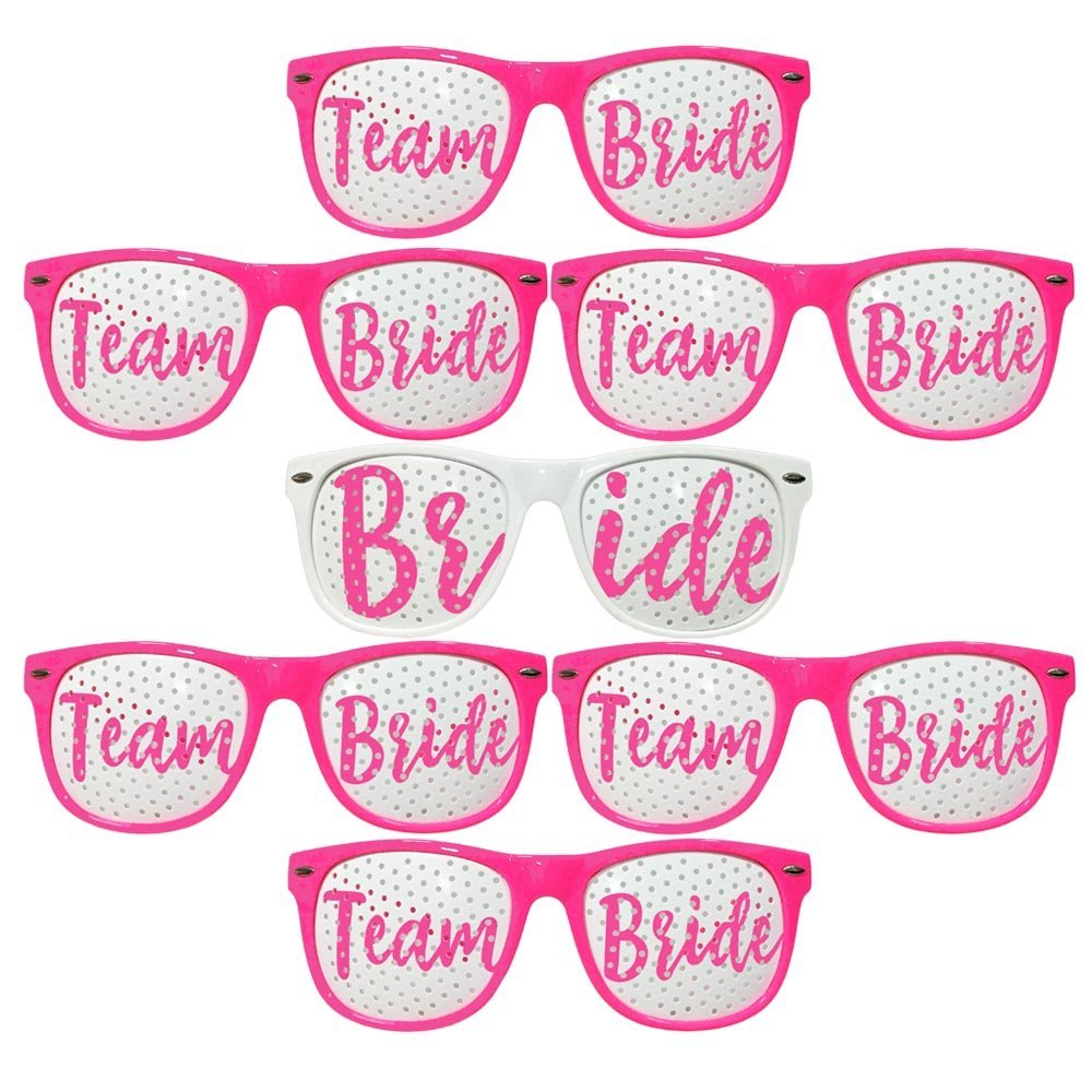 Amazon.com: ADJOY Team Bride Wedding Party Sunglasses for Photo ...