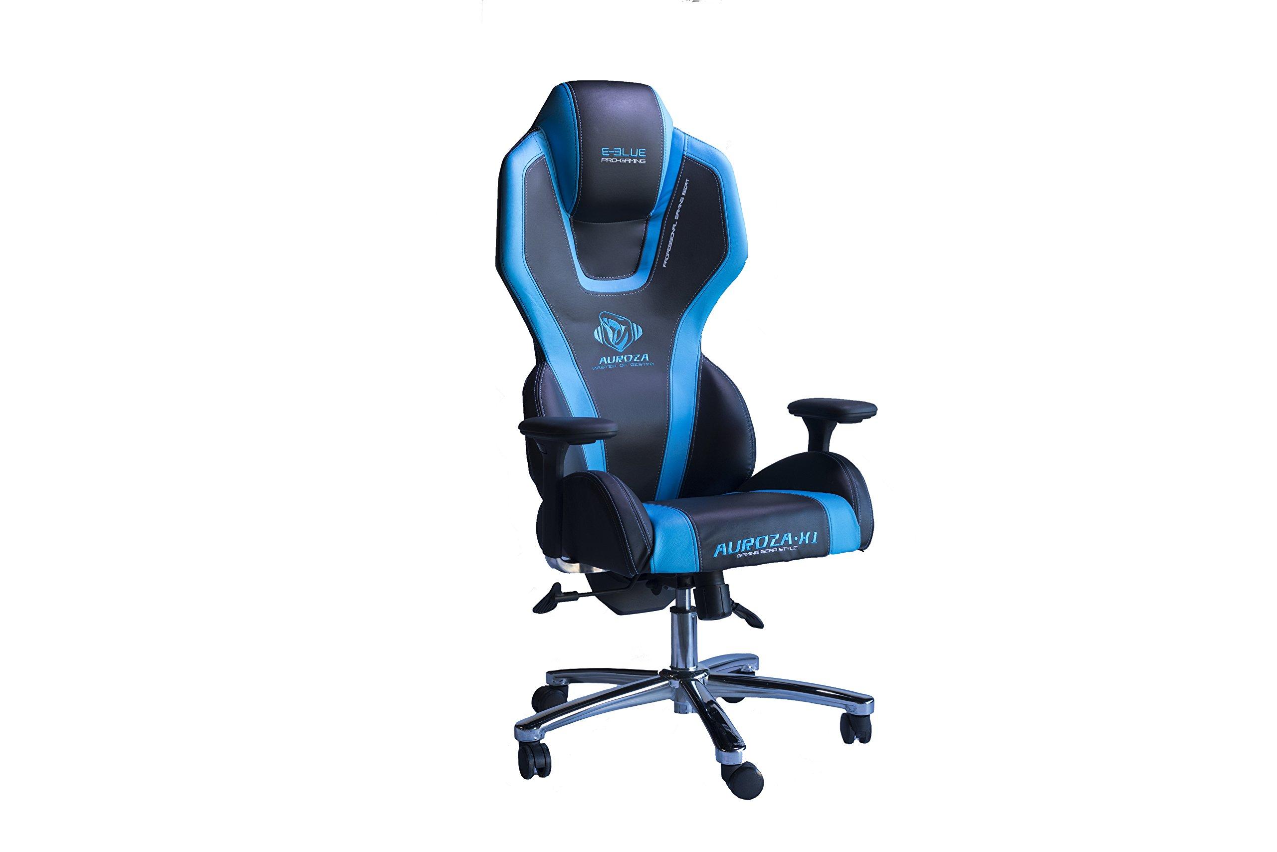 E-BLUE USA Auroza Gaming Chair, High Grade PU Leather, PC Racing Bucket Seat, Office Ergonomic Computer Esports Desk Executive EEC305B