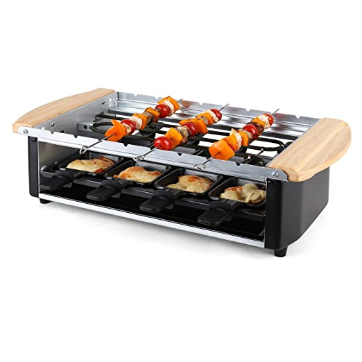 Klarstein Chateubriand Raclette-Grill • Parrilla de mesa • Barbacoa-Party • 1200W • regulador de calor continuo • Plancha de piedra natural • Grill bajo en ...