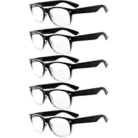 Eyekepper 5-pack Spring Hinges 80's Reading Glasses +3.50