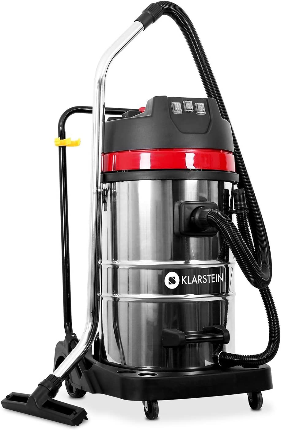 Klarstein IVC-80 - Aspiradora Industrial (80 L, 3000 W, 22,31 kPa, 82 dB, Seca y húmeda, Sin bolsa , Doble motor), Negro metal: Amazon.es: Hogar
