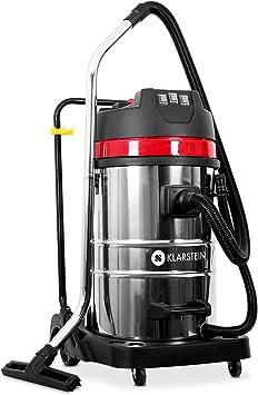 Klarstein IVC-80 - Aspiradora Industrial (80 L, 3000 W, 22,31 kPa, 82 dB, Seca y húmeda, Sin bolsa, Doble motor), Negro metal: Amazon.es: Hogar