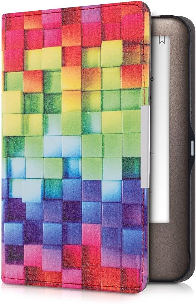 Housse avec Rabat magn/étique en Tissu Canevas pour liseuse kwmobile /Étui liseuse Compatible avec Tolino Shine