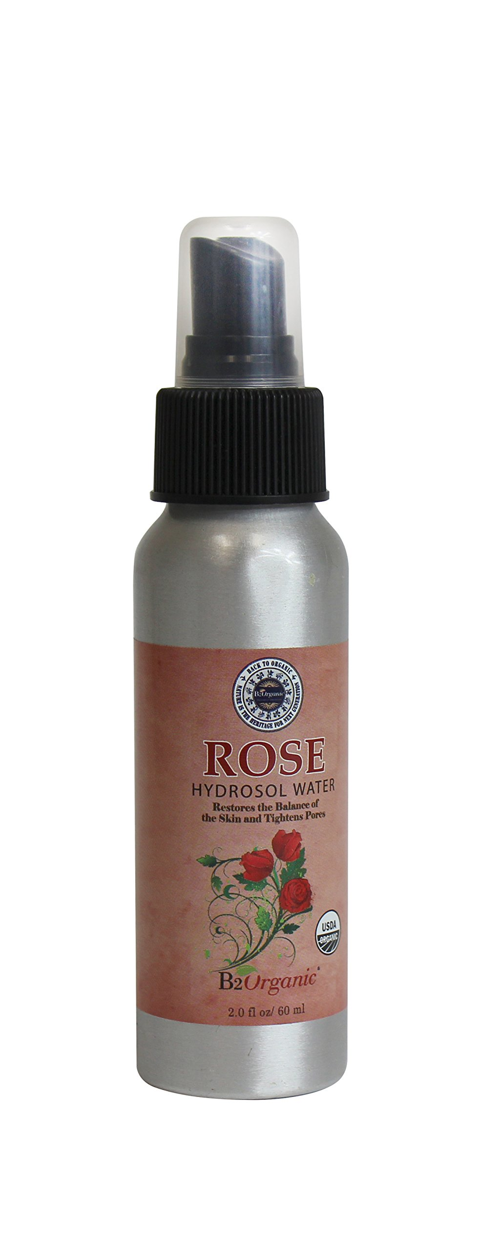 B2Organic Rose Hydrosol Water 2 ounce (Pack of 6)
