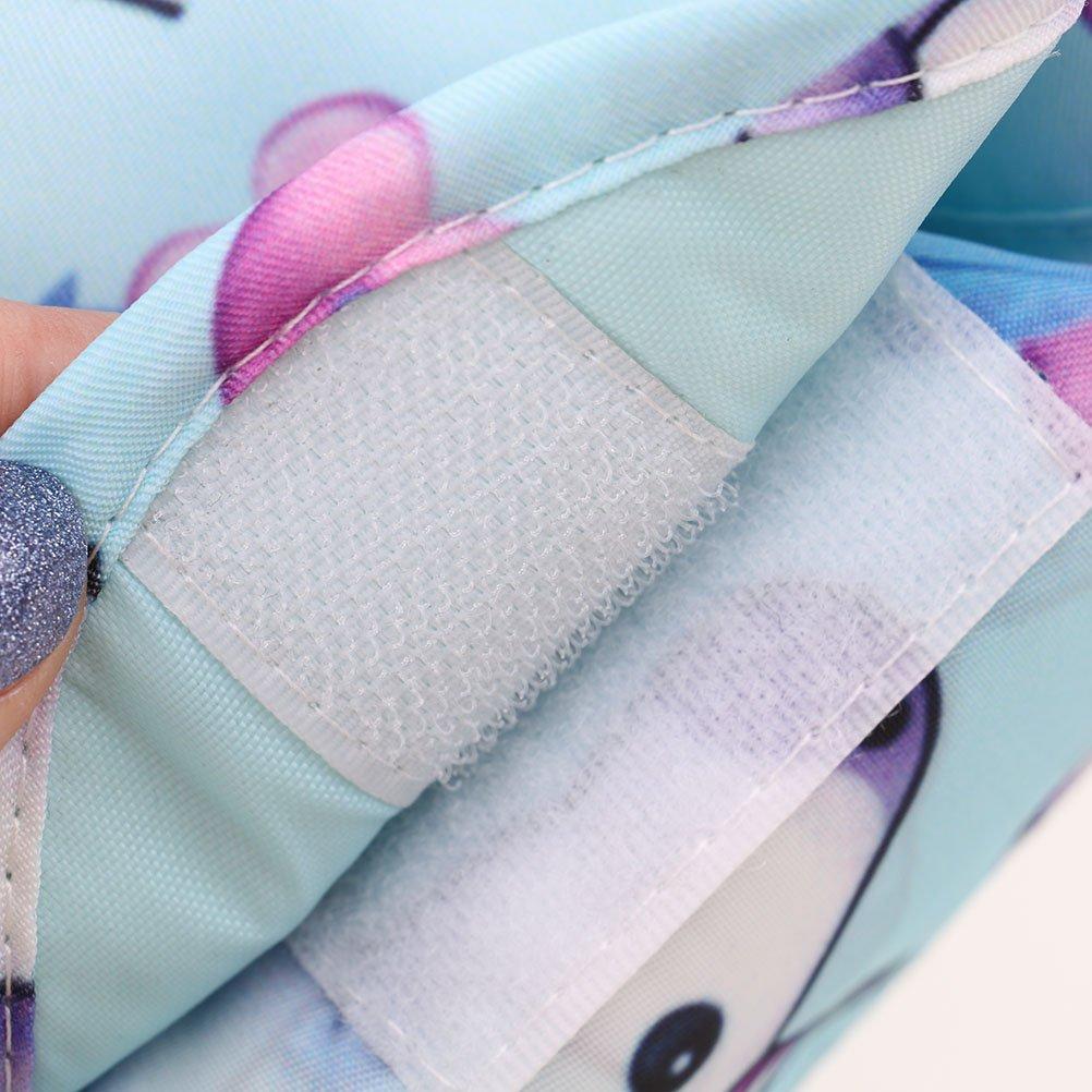 Osun 1/PC Licorne Sac Cosm/étique Avec cordon portable Maquillage Sac de rangement Grande capacit/é Voyage Lazy Trousse de toilette /étanche Magic Sacs avec fermeture /à glissi/ère bleu bleu