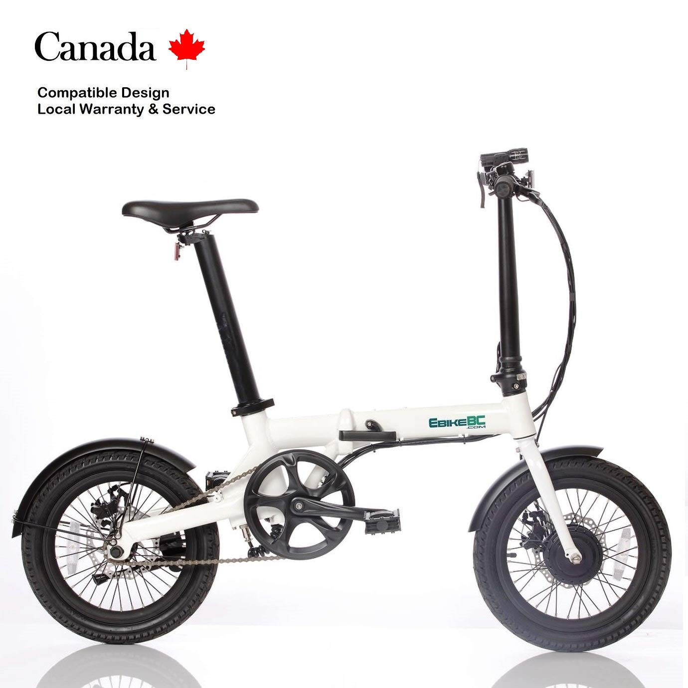 3c7c277fee1 Ultra Light 14kg Folding e Bike Electric Assist Bicycle 250W Removable Li-ion  Battery in Collapsible ebike seat Post Disk Brake Foldable 16in Scooter, ...