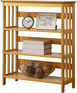 Legacy Decor Wooden Bookshelf Bookcase Bookshelves Oak Finish 3 Tiers