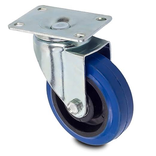 Lenkrolle R/ückenloch 1 50 mm roulettes pour charges lourdes roulettes pour meuble Inox Trade Roulettes de transport roulettes fixes ou pivotantes au choix