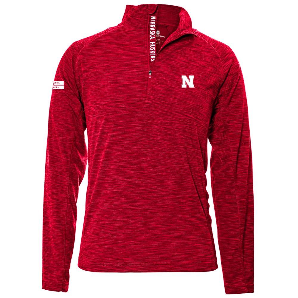 Levelwear LEY9R NCAA クオータージッププルオーバー ストロングスタイル ミッドレイヤー B074PCZTNK X-Large|レッド(Flame Red)|Nebraska Cornhuskers レッド(Flame Red) X-Large