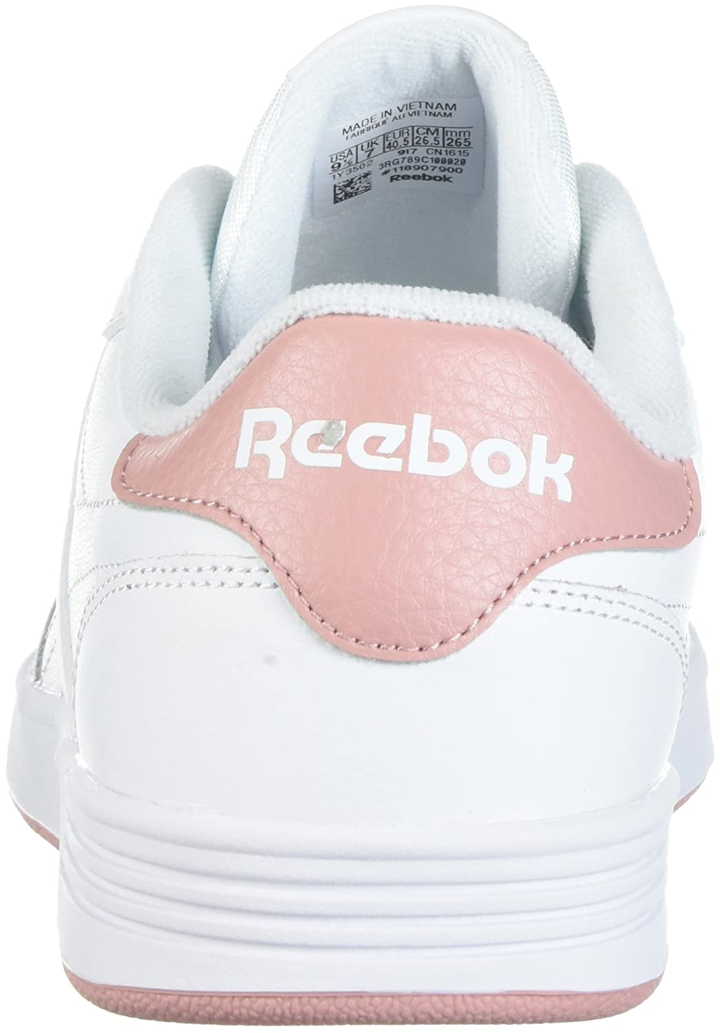 Reebok Women's Club MEMT Track Shoe B072FRY5P6 8.5 B(M) US|White/Chalk Pink