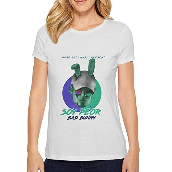 da149710 rtttgbaq Bad-Bunny-Soy-Peor- Fitness Tee Solid Shirt at Amazon Women's  Clothing store: