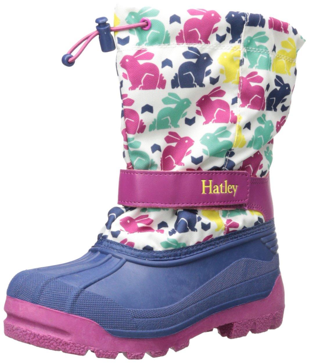 Hatley Little Girls Ski Bunny Winter Boot, White, 13 Little Kid