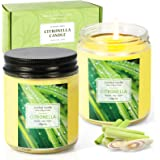 SCENTORINI Citronella Candle, Scented Candle, Lemongrass Aromatherapy Candle Gift Set, Soy Wax Candle for Outdoor/Indoor, 2 x