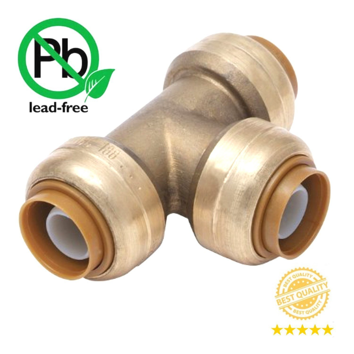 """LEAD FREE BRASS 100 PIECES 3//4/"""" SHARKBITE STYLE PUSH FIT CAPS NEW"""