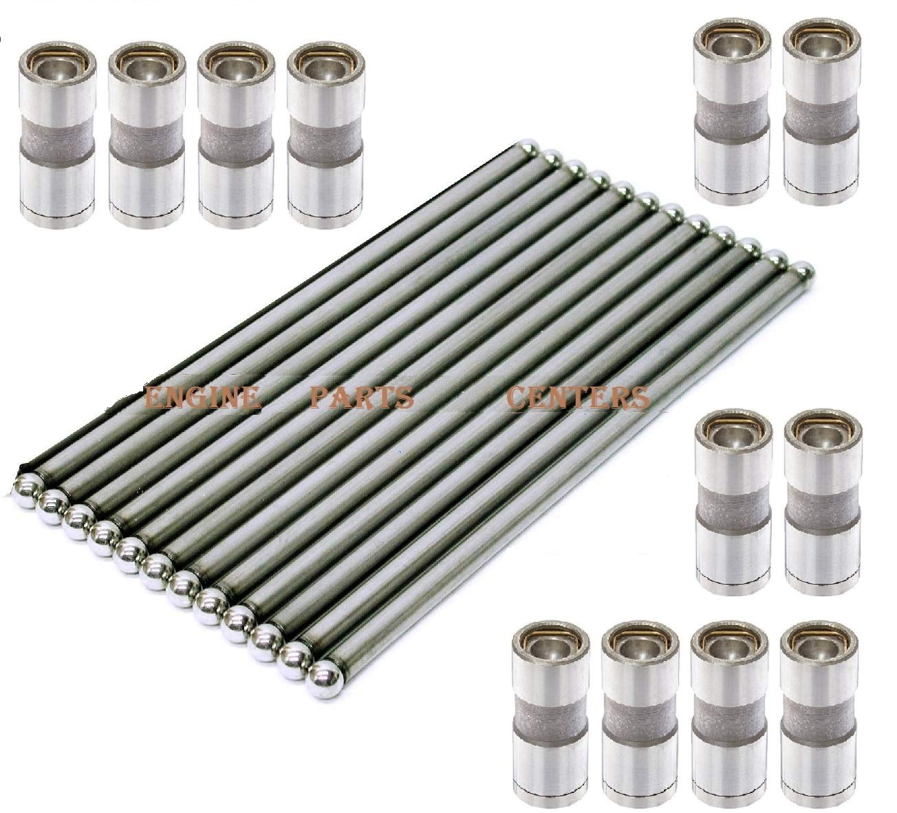 Jeep 4.0 242ci Hydraulic Lifters & Push Rods Complete Set of 12 1987-2006 (Lifters & Pushrods) ELgin Industries