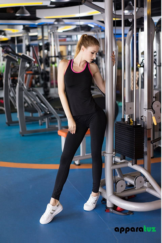 43398d41ea9 apparatuz Quick Dry Compression Racerback Tank Top for Women Workout ...