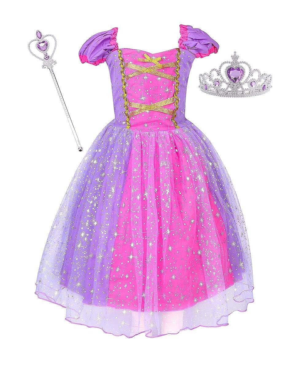 07afd4f3273adf プリンセス ラプンツェル B07LH1BHP8 パープル years 2-3 王冠付き 女の赤ちゃん用ドレス コスチューム-ガールズ