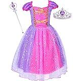 Suyye Princess Dress Costume for Little Girl Baby Shining Birthday Dress