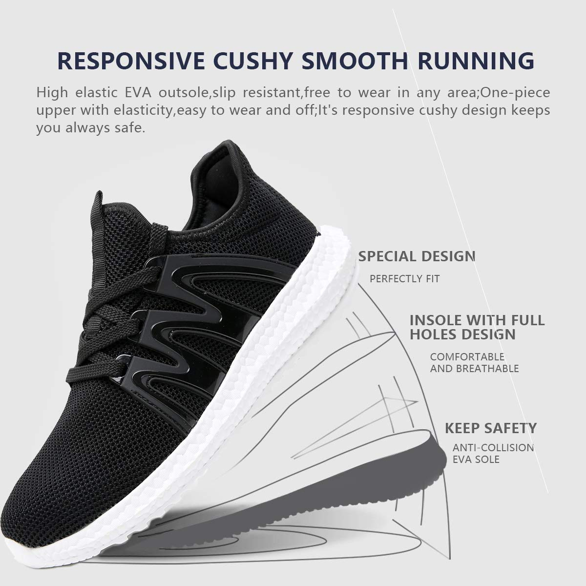 Azooken Mens Tennis Shoes Athletic Running Shoes Comfortable Walking Shoes Lightweight Casual Shoes Sports Sneakers for Men