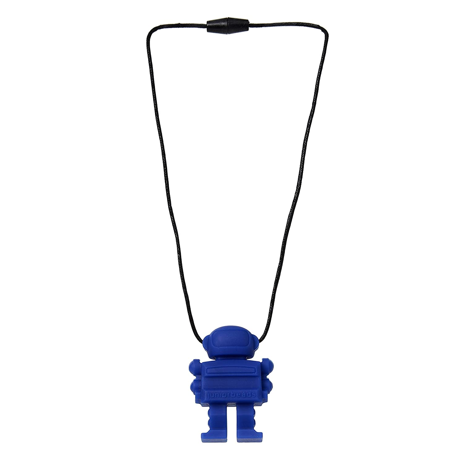 Blue CHB-4300-COB 100/% Safe Silicone Juniorbeads by Chewbeads Spaceman Necklace