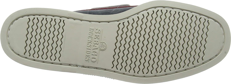 Sebago Men's Portland Spinnaker Nubuck Boat Shoes Multicolor Lt Grey Smoke Red N30