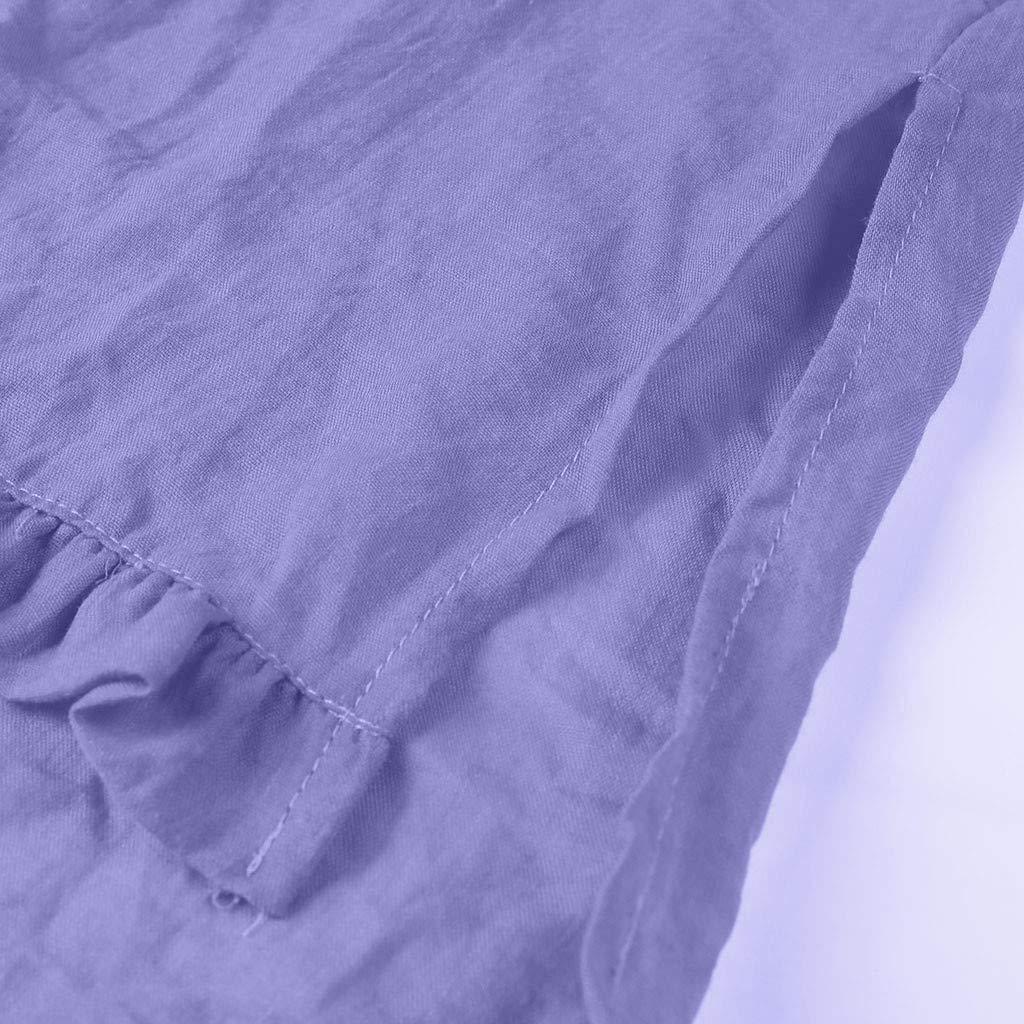 JIAJU--DJ Womens Summer Casual O Neck Half Sleeve Solid T Shirt Top Blouse