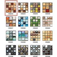 50 Piezas de Pegatinas de Azulejos Estilo Retro Mosaico Adhesivo Pegatinas Autoadhesivas Para Azulejos DIY Baño Cocina…