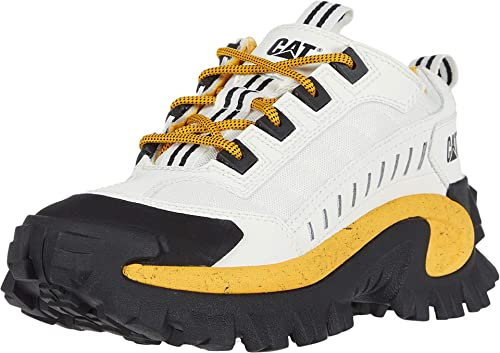 Caterpillar Intruder Baskets Unisexe Baskets Chaussures Cuir Blanc Nouveau p723905