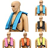 Inflatable Life Vest,CAMTOA Manual Inflatable PFD Life Jacket Outdoor Portable Life Vest Adult for Water safety Boating Survival Aid Sailing