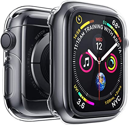 Penom Case for Apple Watch Screen Protector Series 5 Series 4 44mm, Ultra Thin iWatch 44mm Screen Protector with Full Protection TPU Cover