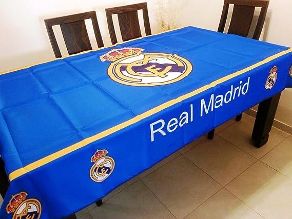 Real Madrid mantel antimanchas - Producto oficial - 100 cms X 140 cms (2 4  personas)  Amazon.es  Hogar 9aae038eccd