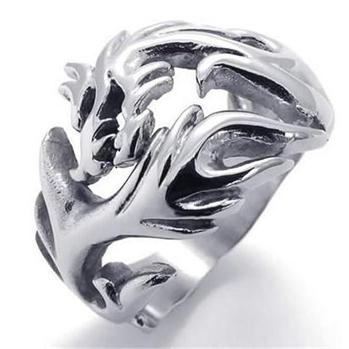 e5cf761529dd7 Beydodo Ring Gold Women Thumb Rings for Women 20MM Dragon Silver ...