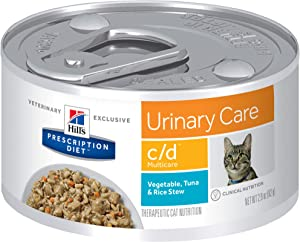 Hill's Prescription Diet c/d Multicare Urinary Care Tuna & Vegetable Stew Canned Cat Food, 2.9 Oz, 24-Pack Wet Food, 3385