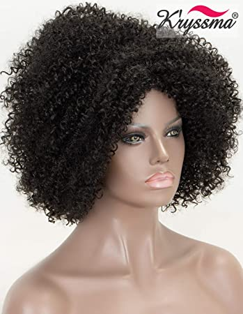 K'ryssma #1B Natural Black Curly Synthetic