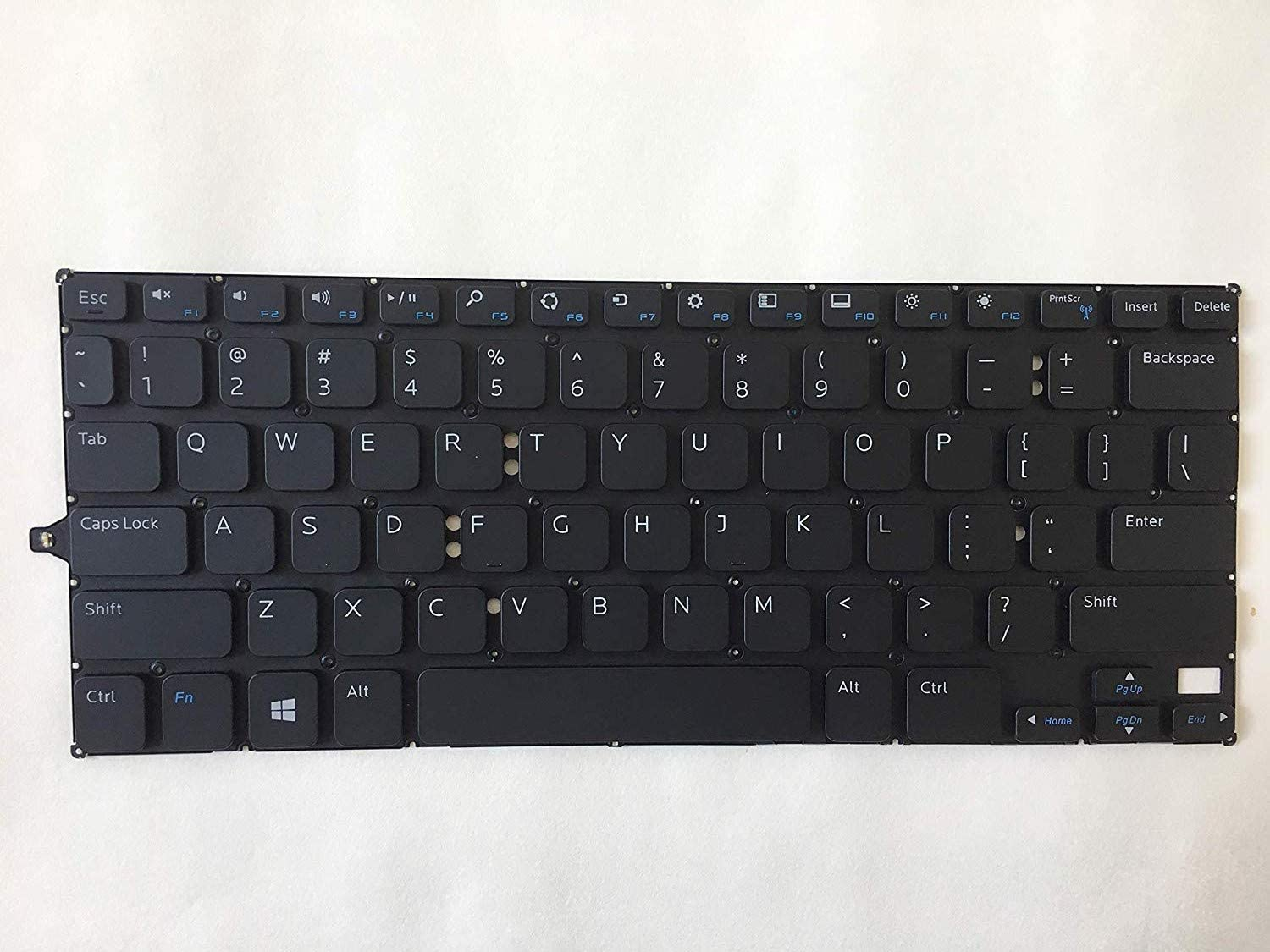 Laptop Replacement of New US Black Keyboard Fit Dell Inspiron 11 3157 3158 2-in-1,Non-Backlit,Without Frame