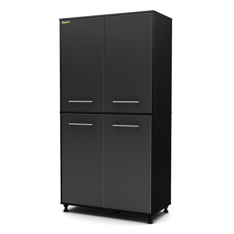 Amazon.com: South Shore Karbon Collection Storage Cabinet, Pure Black/  Charcoal: Home U0026 Kitchen