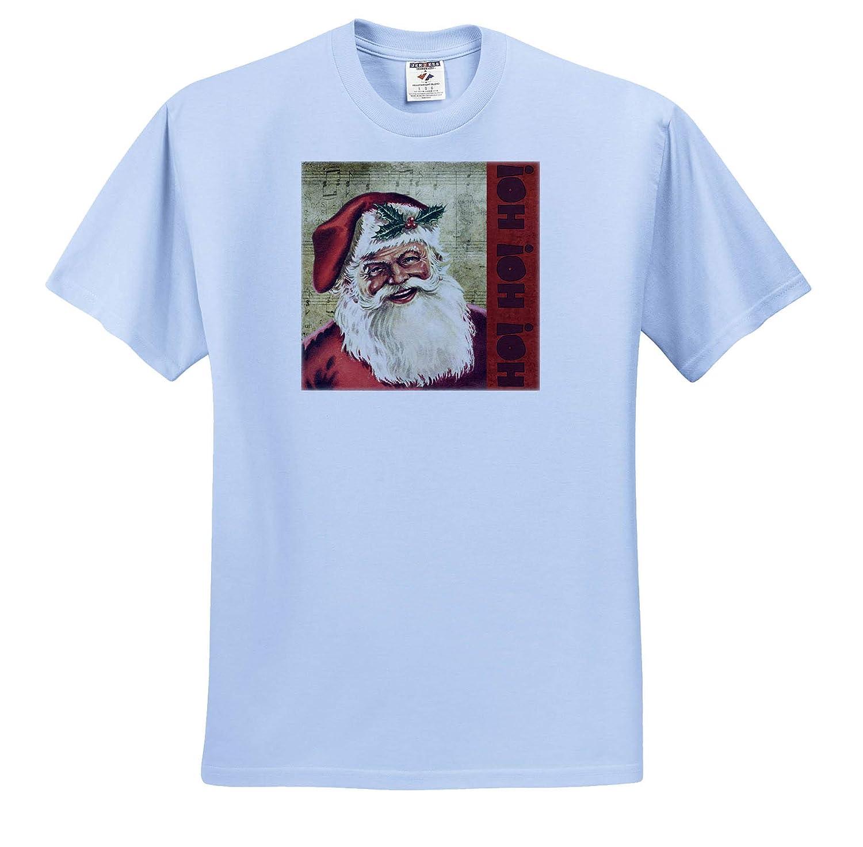 T-Shirts 3dRose Andrea Haase Christmas Illustration Nostalgic Christmas Art Santa with Ho Ho Ho