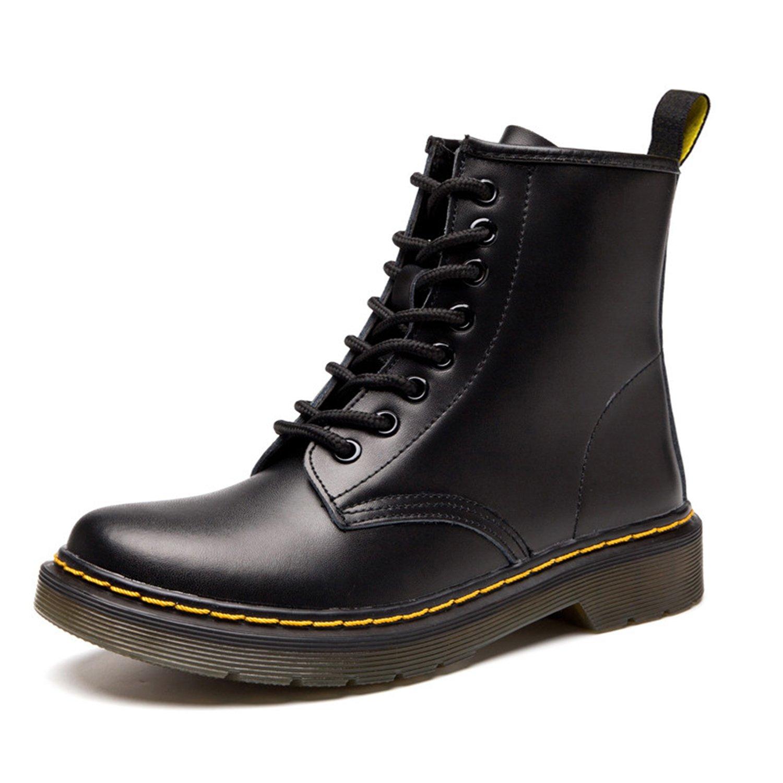 ukStore Botte Femme Hiver/Homme Bottes/Bottines Plates Fourrées/Boots Chaussures Lacets/Classiques Chaudes Impermeables