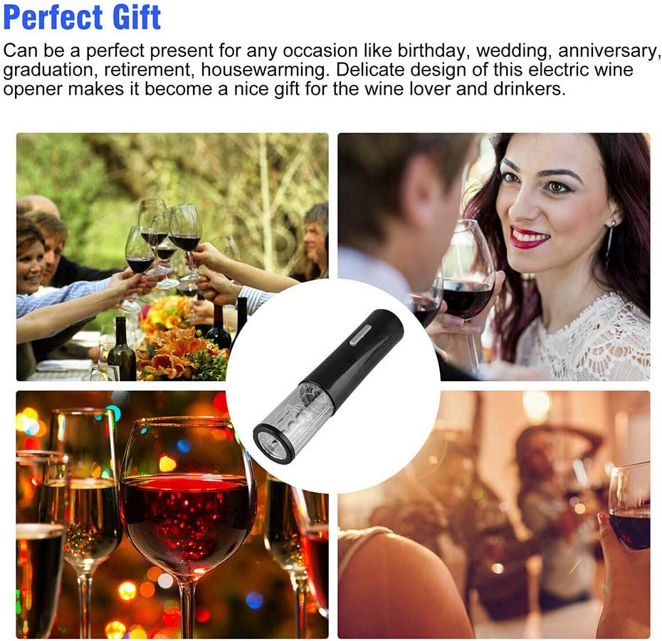 Electric Wine Opener Stainless Rechargeable Corkscrew Automatic Electric Wine Bottle Corkscrew Opener