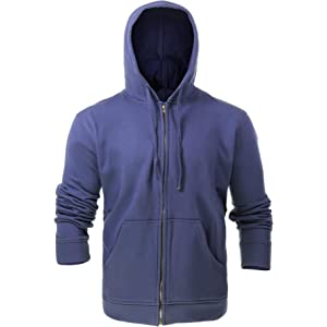 e4f696ed0ece Amazon.com  Tyndale Pullover FR Hooded Sweatshirt Medium-Long Navy ...