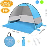 SLB Pop Up Tent, Large Beach Tent Waterproof & Anti UV Sun Shelter(For 3 Person)