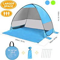 SLB Pop up Tent Large Pop up Beach Tent,Automatic Sun Shelter with Water-resistant & UV Protection Design & Easy Set up-Portable for Family Activities/Beach/Camping/Hiking/Picnic (3 Person)