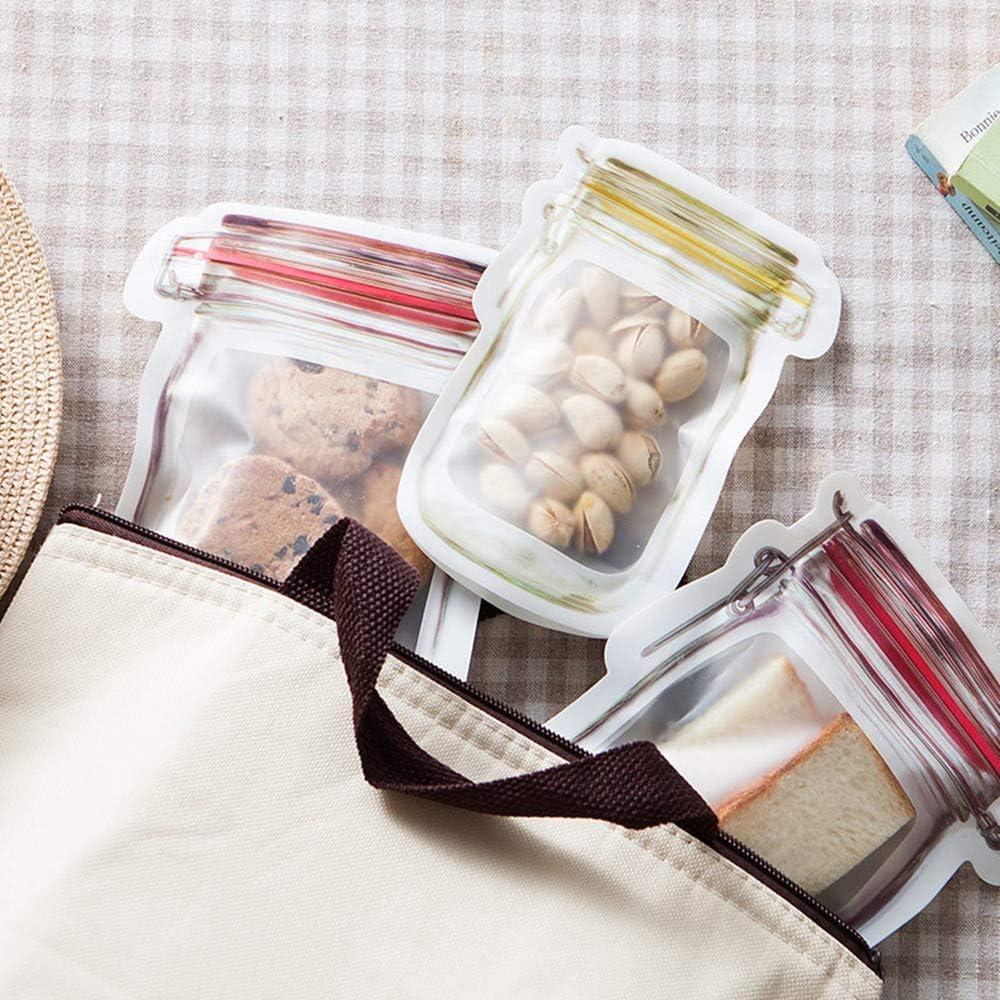 12pcs XIAXIN Wiederverwendbare Mason Bottle Ziplock Bag,Wiederverwendbare Aufbewahrungsbeutel f/üR Lebensmittel