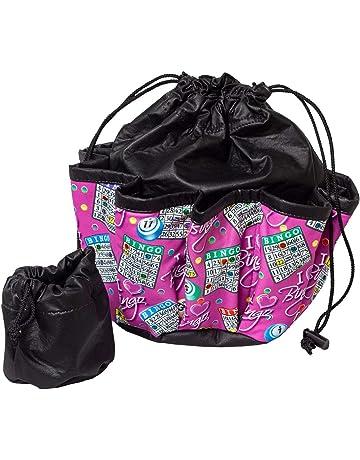 9df57df52628 ABS Novelties I Love Bingo Pink Pattern 10 Pocket Tote Black