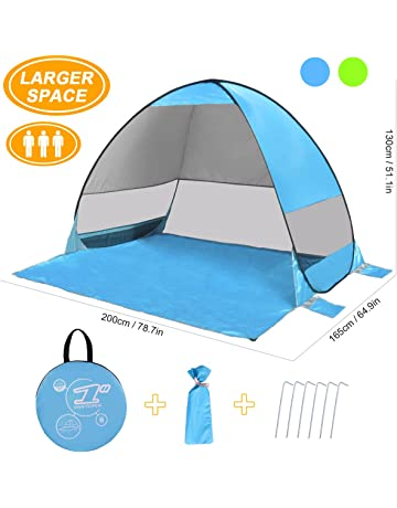 df47a884203 SLB Pop up Beach Tent - Automatic Sun Shelter with Water- Resistant   UV  Protection